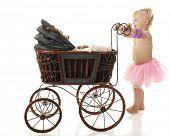 stock photo of buggy  - An adorable 2 - JPG