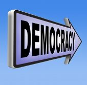 stock photo of democracy  - democracy and political freedom power to the people after a new revolution for free elections - JPG