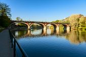 picture of turin  - po river in the city of turin - JPG