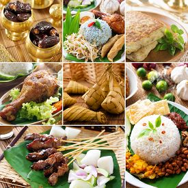 picture of malaysian food  - Collage photo delicious ramadan food - JPG