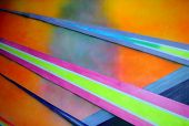 Abstract Diagonal Neon Colors