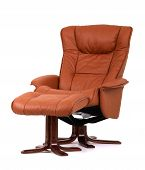 Brown Recliner With Footstool