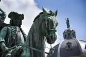 Постер, плакат: Prince Eugene Of Savoy Statue With The Hofburg Palace In Vienna Austria