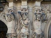 Caryatid Sandstone Figures poster