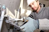 stock photo of plumber  - Plumber - JPG