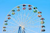 stock photo of ferris-wheel  - viewing wheel isolated - JPG