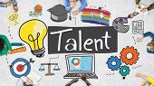 Talent Expertise Natural Skill Occupation Skills Concept poster