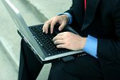 Businessman With Laptop 81