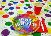 Birthday Table Setting