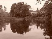 Sepia Still Pond Massachusetts