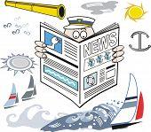 Yachting newspaper cartoon