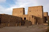 picture of isis  - The magnificent architectural pylons at the Temple of Isis at Philae - JPG