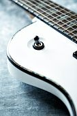 Detail of electric guitar poster
