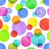 Colorful Circle Seamless Pattern With Grunge Effect. Colorful Abstract Geometric Round Shape Sphere  poster