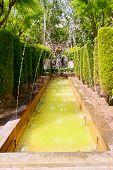 fontaine of Hort del Rei gardens Palma de Mallorca near Almudaina