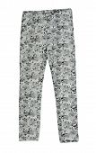 Gray Legensy With A Floral Pattern