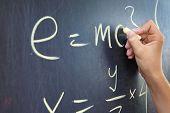 Mathematical assignment on a chalkboard