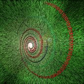 Binary data code abstract illustration