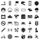 Постер, плакат: Motorsport Icons Set Simple Set Of 36 Motorsport Vector Icons For Web Isolated On White Background