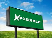 Possible Wording Close Up On The Green Billboard poster