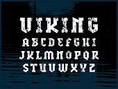 Slab Serif Font In Military Style. Letters With Rough Texture For Logo And Emblem Design poster