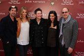LOS ANGELES - MAR 13: (L-R) Patrick Dempsey, wife Jillian Dempsey, K.D. Lang, Joyce Varvatos, John V