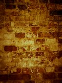 Shabby Surface Of Ancient Masonry Of Old Brick Wall. poster