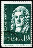 Vintage Postage Stamp.  Sir  Isaac Newton.
