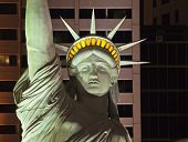LAS VEGAS NEVADA - AUGUST 8: Headlines are made when the US Postal Service mistakenly uses an editorial photo of the Statue of Liberty replica in a stamp design in Las Vegas Nevada on August 8, 2011.