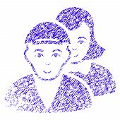 Grunge People Pair Rubber Seal Stamp Watermark. Icon Symbol With Grunge Design And Scratched Texture poster