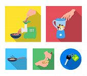 Equipment, Appliances, Appliance And Other  Icon In Flat Style., Cook, Tutsi. Kitchen, Icons In Set  poster