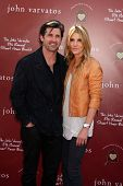 LOS ANGELES - MAR 13:  Patrick Dempsey, wife Jill Fink Dempsey arriving at the John Varvatos 8th Ann