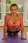 Yoga Cobra Pose by Woman