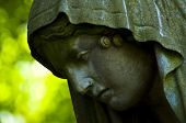 image of bonnes  - detail of an old marble tombstone at the old cemetery in Bonn - JPG