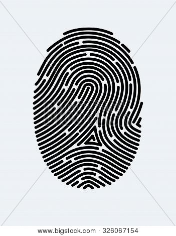 poster of Fingerprint Icon. Cyber Security Concept. Digital Security Authentication Concept. Biometric Authori