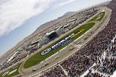 LAS VEGAS, NV - MARCH 11:  The NASCAR Sprint Cup teams take to the track for the running of the Koba