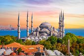 Sultan Ahmed Mosque Or The Blue Mosque In Istanbul, One Of The Most Famous Turkish Sights poster