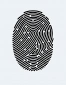 Fingerprint Icon. Cyber Security Concept. Digital Security Authentication Concept. Biometric Authori poster