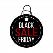 Black Friday Sale Tag. For Art Template Design poster