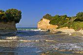 Beach at Corfu island in Greece