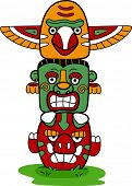 stock photo of indian totem pole  - Illustration of a Totem Pole - JPG