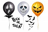 Halloween Balloons. Scary Air Balloons. Holidays, Decoration And Party Concept Balloons For Hallowee poster
