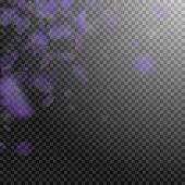 Violet Flower Petals Falling Down. Noteworthy Romantic Flowers Corner. Flying Petal On Transparent S poster