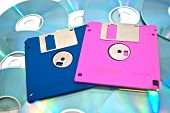 different floppy disk on cd's