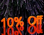 10% Off With Fireworks Showing Sale Discount Of Ten Percent