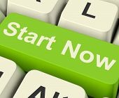 Start Now Key Meaning To Commence Immediately On Internet