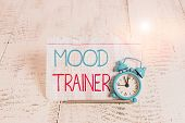 Writing Note Showing Mood Trainer. Business Photo Showcasing A Demonstrating Who Trains To Alleviate poster