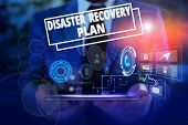 Conceptual Hand Writing Showing Disaster Recovery Plan. Business Photo Showcasing Having Backup Meas poster