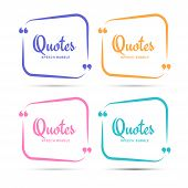 Quote Box Frame. Quotation Bubble Or Quotes Symbols For Blog. Texting Quote Boxes. Blank Template Fo poster
