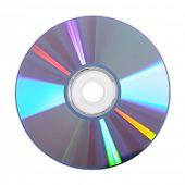 DVD disk isolated